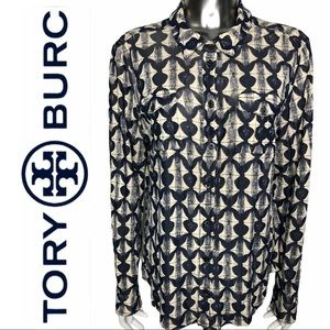 GUC Tory Burch Knit Long Sleeve Button Front Top
